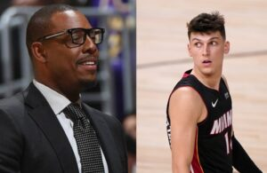 Paul Pierce and Tyler Herro