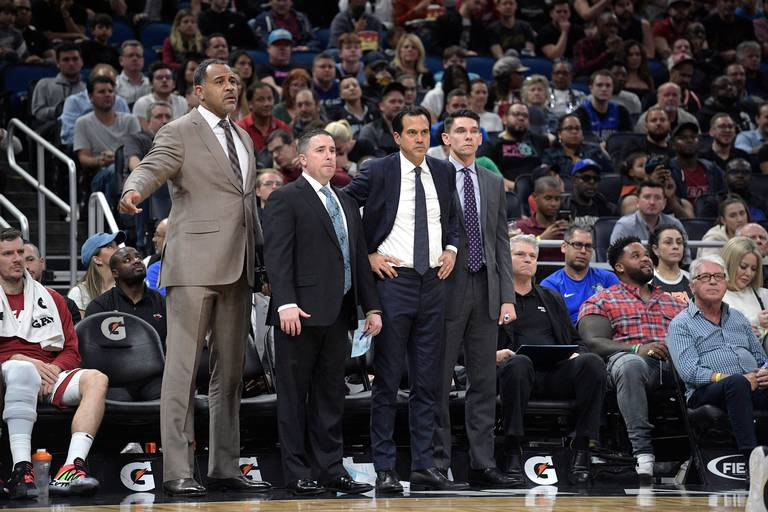 Dan Craig, Erik Spoelstra and Chris Quinn
