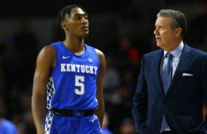 Immanuel Quickley and John Calipari