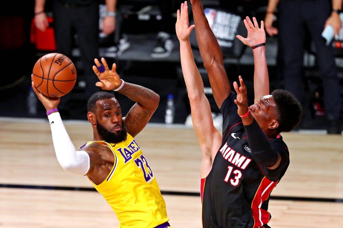 LeBron James Lakers and Miami Heat