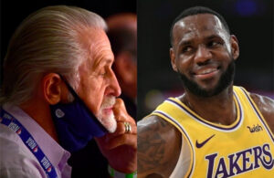 Pat Riley and LeBron James