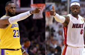 LeBron James Lakers and Miami Heat