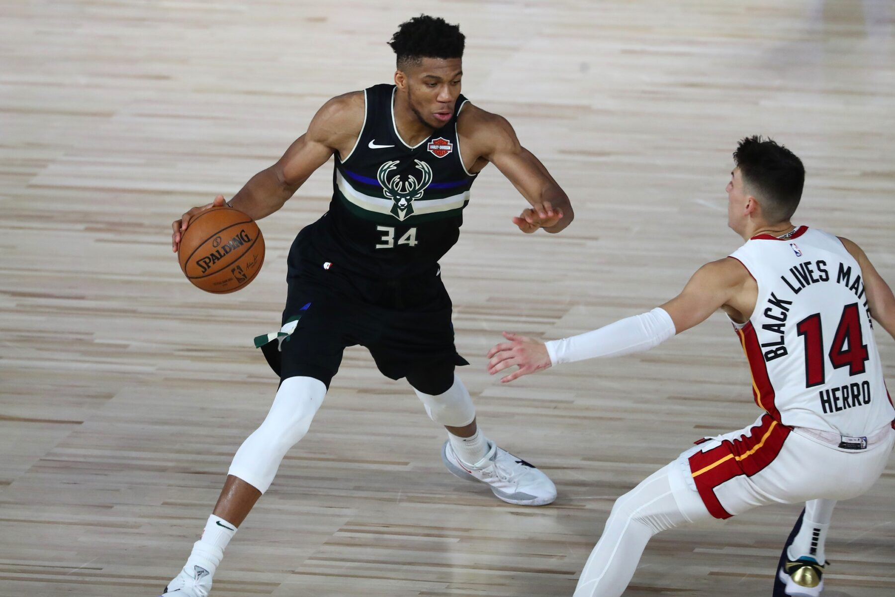 Giannis Antetokounmpo and Tyler Herro