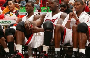 Shaquille O'Neal and Dorell Wright