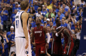 Dirk Nowitzki, LeBron James, Chris Bosh and Dwyane Wade