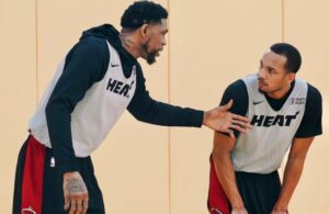 Udonis Haslem and Avery Bradley