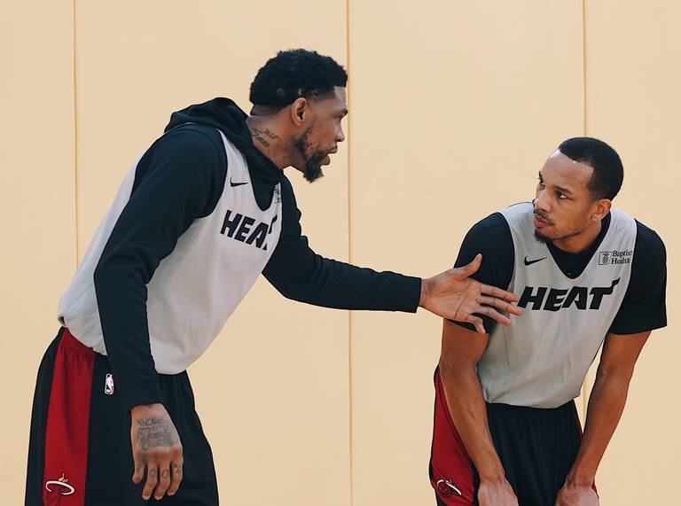 Avery Bradley and Udonis Haslem