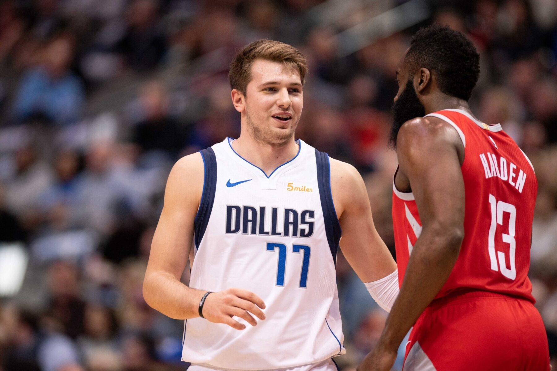 Luka Doncic and James Harden
