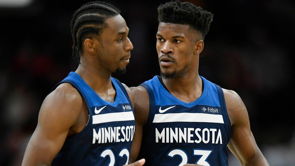 Andrew Wiggins and Jimmy Butler