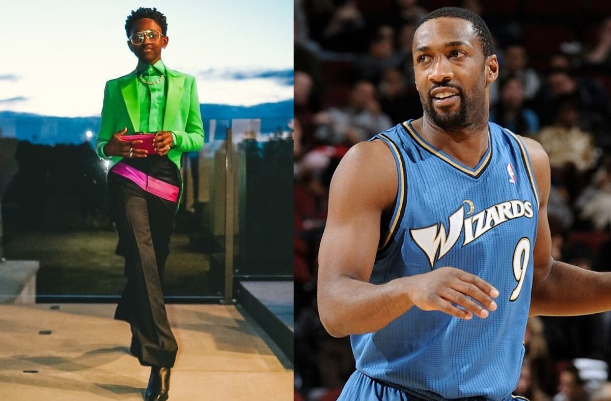 Zaya Wade and Gilbert Arenas