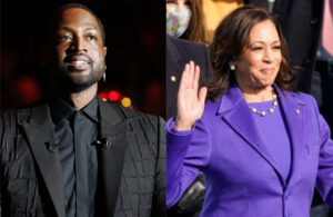 Dwyane Wade and Kamala Harris