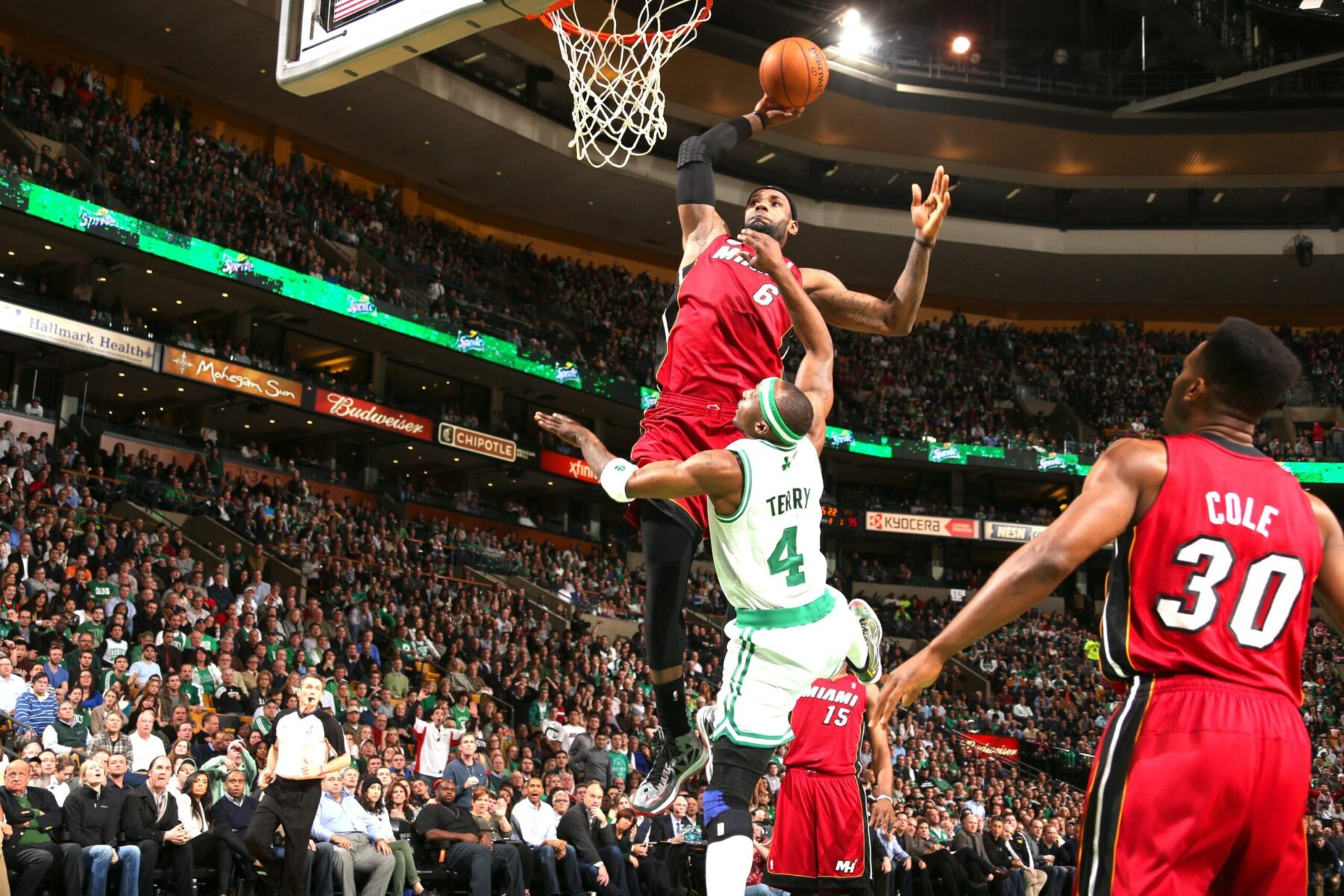 LeBron James and Jason Terry