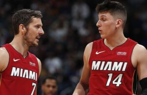 Goran Dragic and Tyler Herro