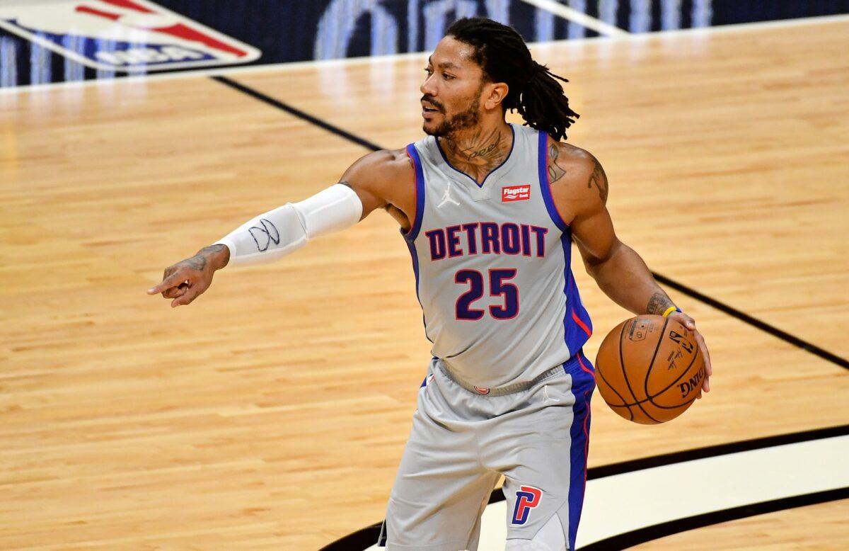 Derrick Rose Detroit Pistons