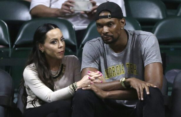 Adrienne Bosh and Chris Bosh