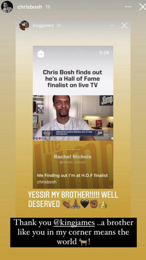 Chris Bosh and LeBron James