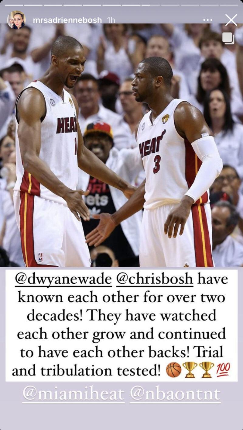 Chris Bosh and Dwyane Wade