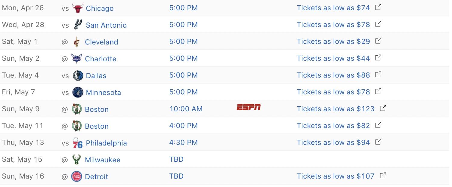 Miami Heat 2020-21 regular season schedule