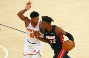 Jimmy Butler Miami Heat Knicks