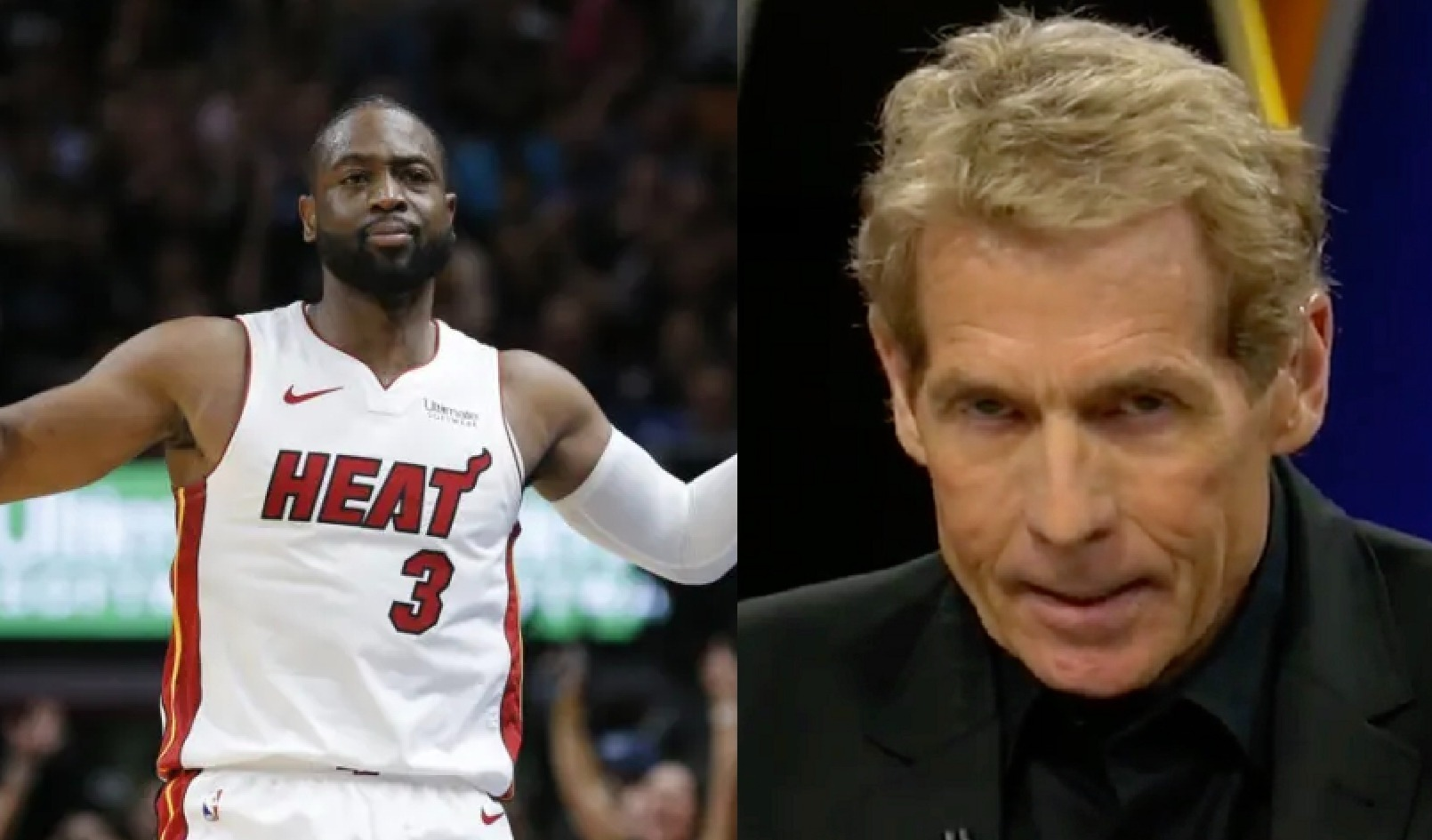 Dwyane Wade and Skip Bayless