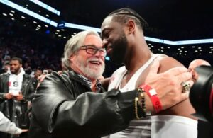 Dwyane Wade and Micky Arison