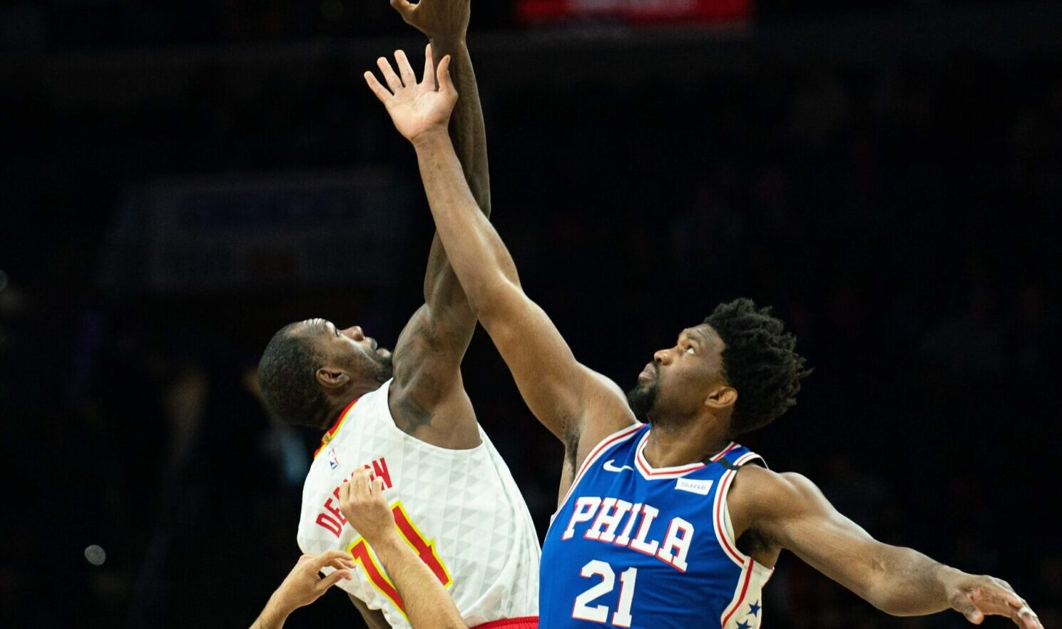 Dewayne Dedmon and Joel Embiid