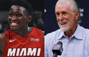 Victor Oladipo and Pat Riley