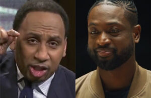 Stephen A. Smith and Dwyane Wade