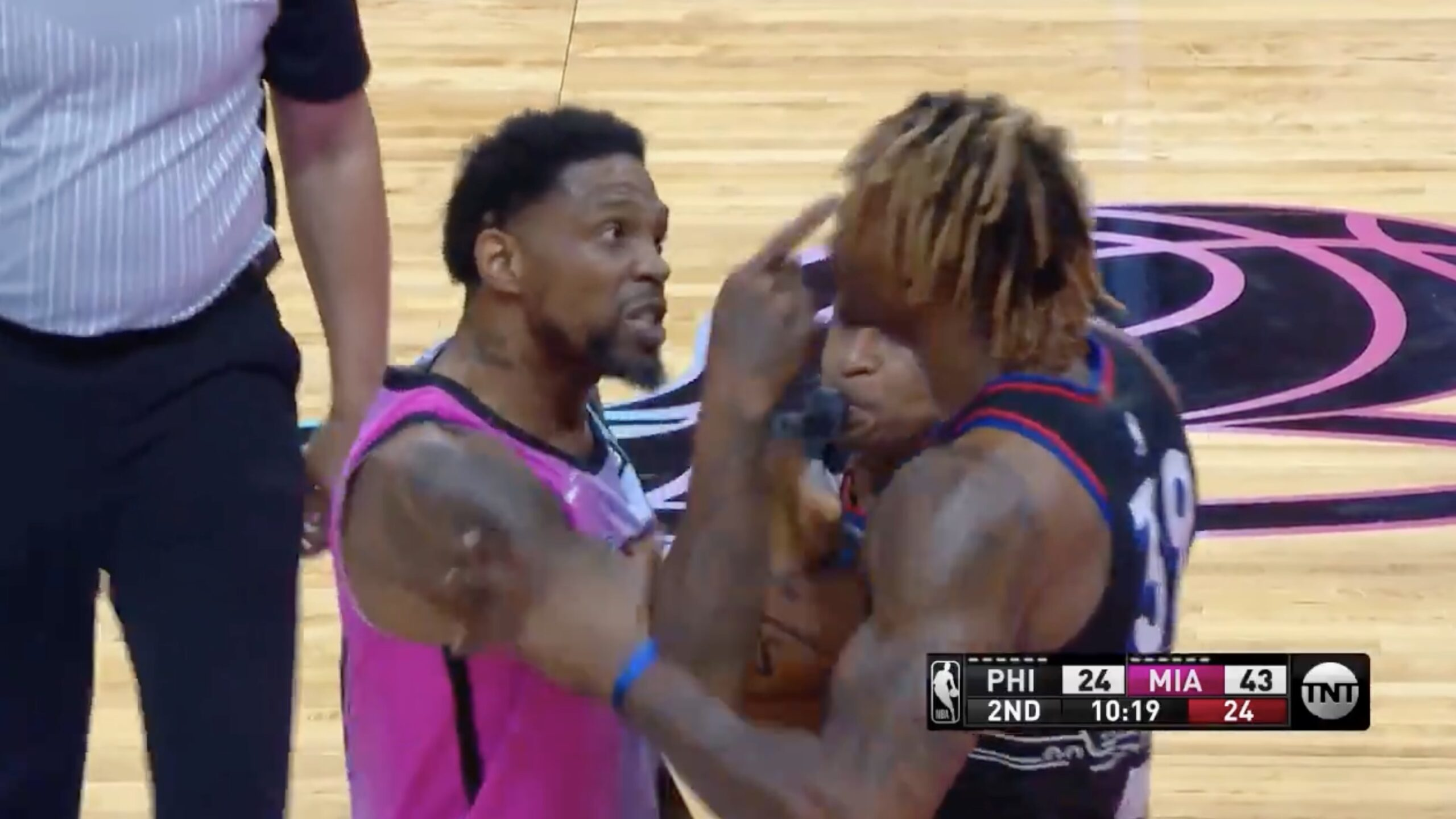 Udonis Haslem and Dwight Howard