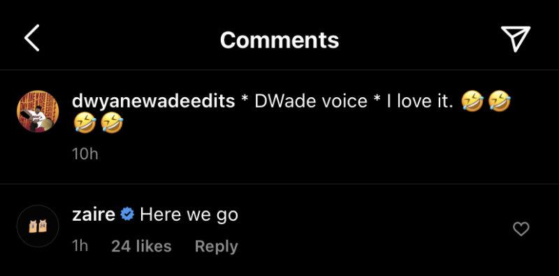 Zaire Wade and Dwyane Wade