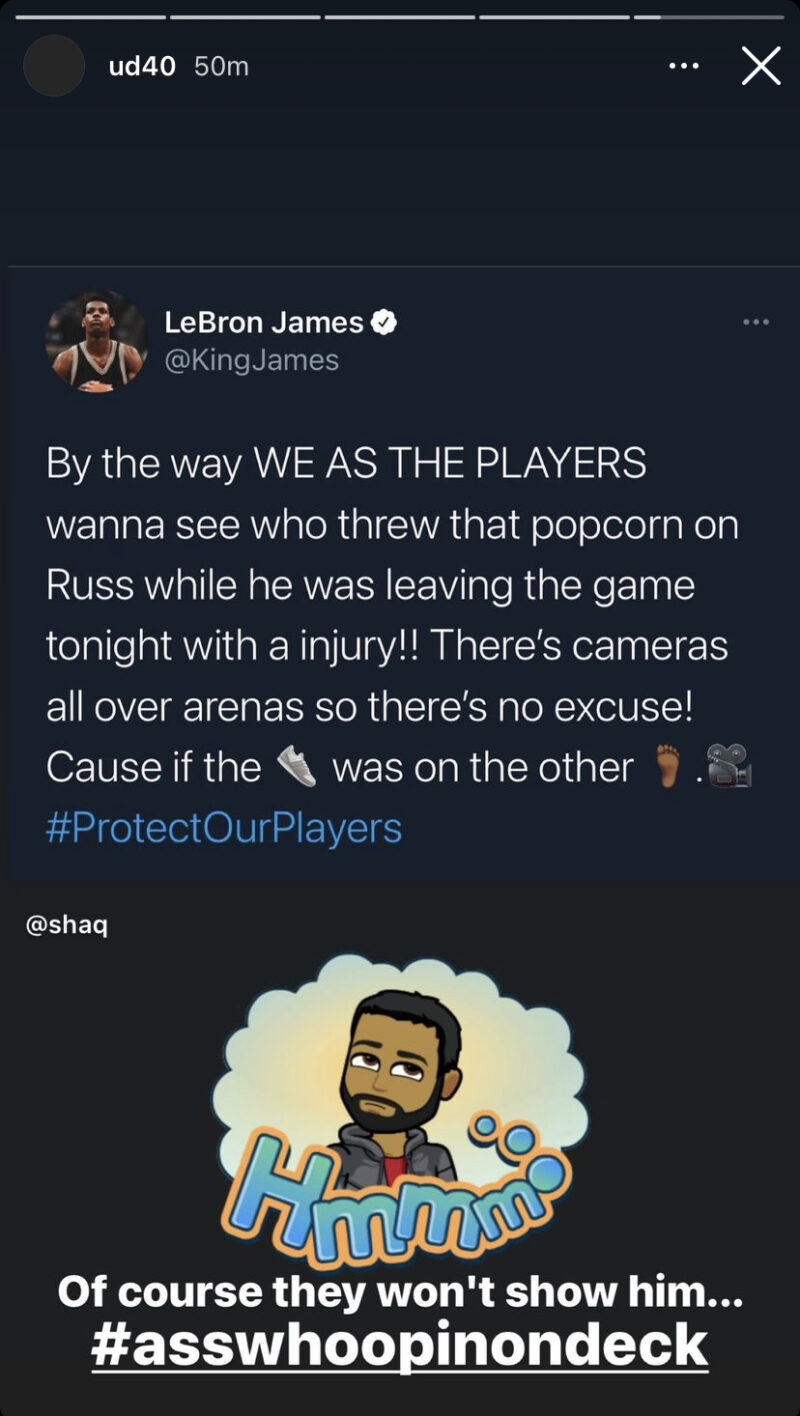 Udonis Haslem and LeBron James