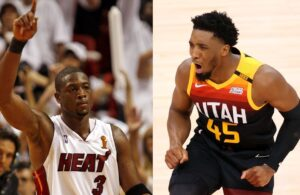 Donovan Mitchell and Dwyane Wade