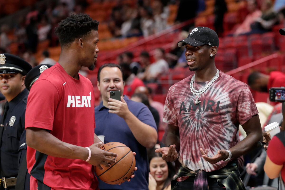Jimmy Butler and Paul Pogba
