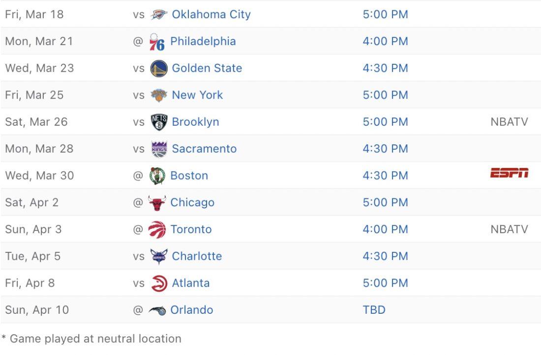 2021-22 Miami Heat schedule
