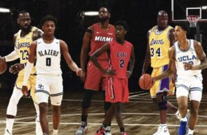 Dwyane Wade, LeBron James and Shaquille O'Neal