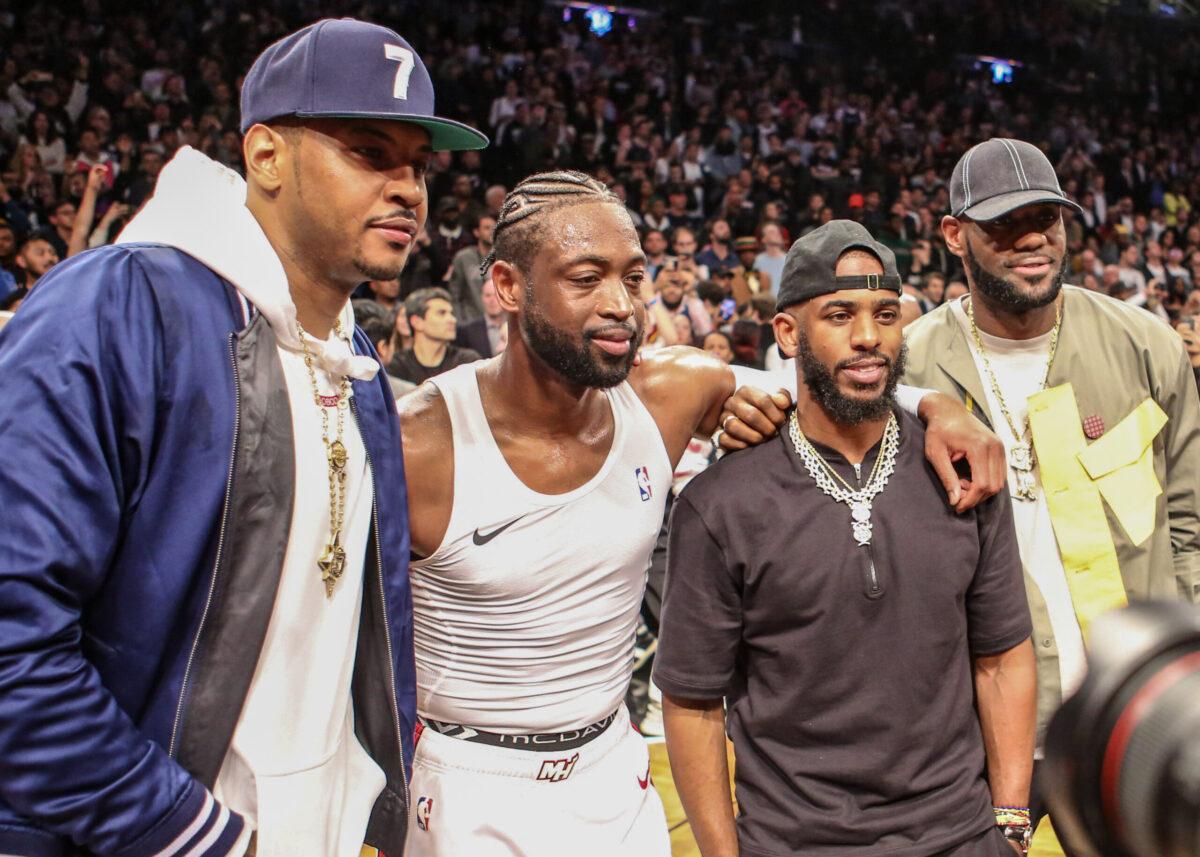 Dwyane Wade, Carmelo Anthony, Chris Paul and LeBron James