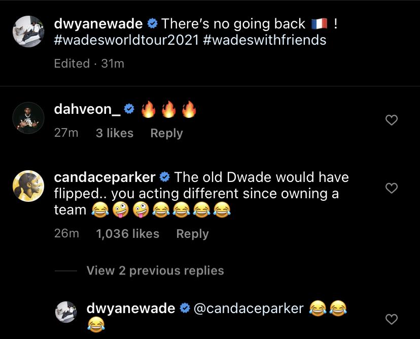 Dwyane Wade and Candace Parker