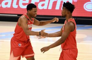 Jimmy Butler and Kyle Lowry