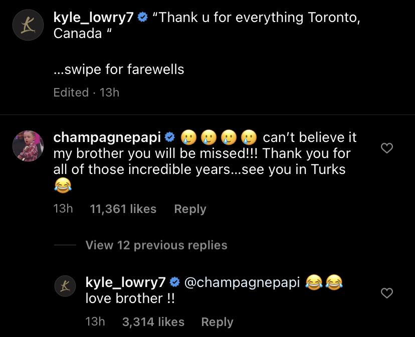 Drake and Kyle Lowry