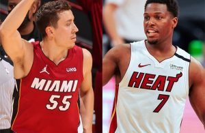 Duncan Robinson and Kyle Lowry