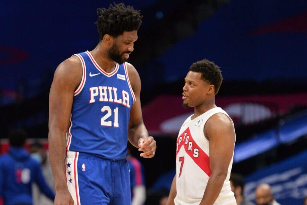 Joel Embiid and Kyle Lowry