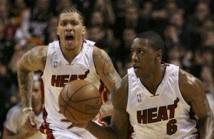 Mario Chalmers and Michael Beasley