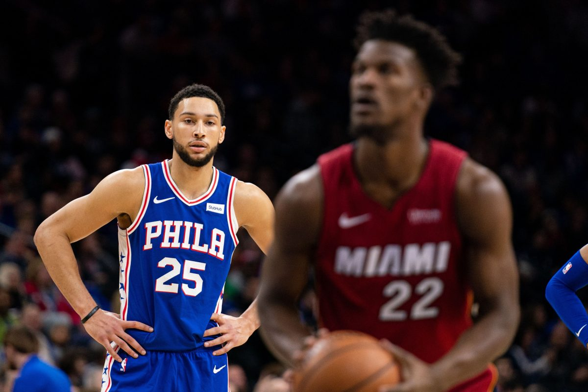Ben Simmons and Jimmy Butler
