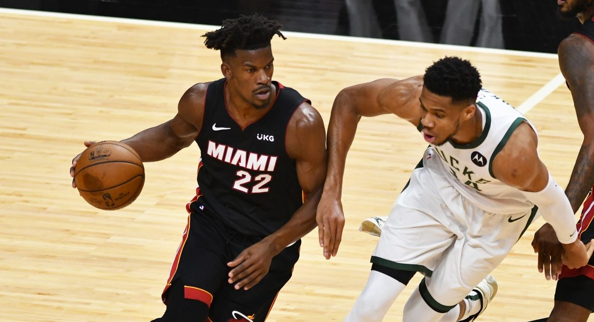 Jimmy Butler and Giannis Antetokounmpo