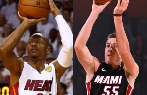 Ray Allen and Duncan Robinson
