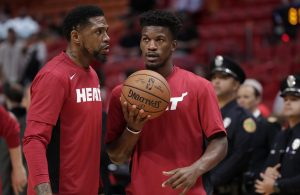 Jimmy Butler and Udonis Haslem